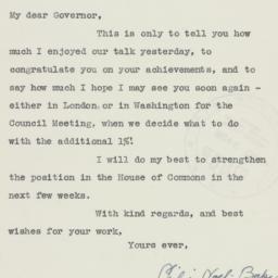 Letter : 1945 October 26