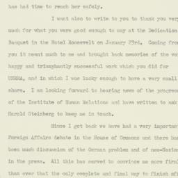 Letter : 1960 February 25
