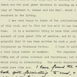 Letter : 1963 October 4