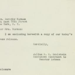 Letter : 1951 February 12