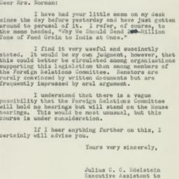 Letter: 1951 March 3