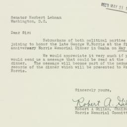 Letter: 1953 May 17