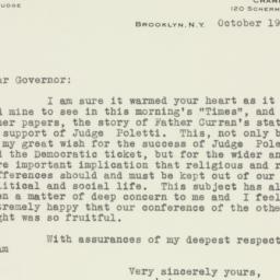 Letter : 1938 October 19