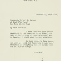 Letter : 1948 December 13