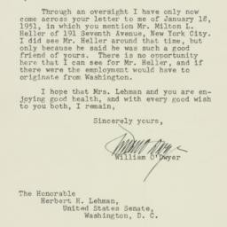 Letter : 1951 May 24