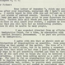 Letter : 1953 December 18