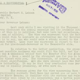 Letter : 1936 August 20