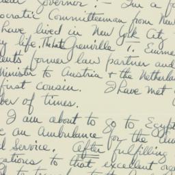 Letter : 1941 August 11