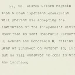 Letter : 1932 October 13