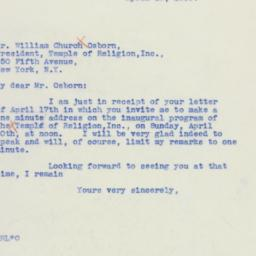 Letter : 1939 April 19