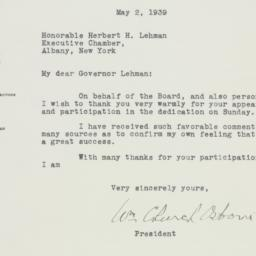 Letter : 1939 May 2