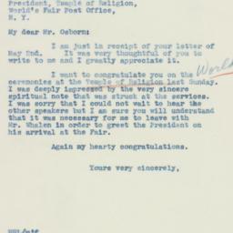 Letter : 1939 May 3