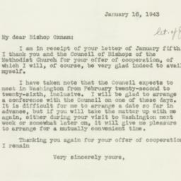 Letter : 1943 January 16