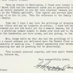 Letter : 1953 March 30