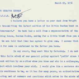 Memorandum : 1956 March 23