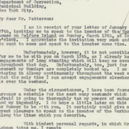 Letter : 1932 February 1