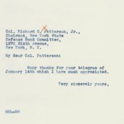 Letter : 1942 January 15