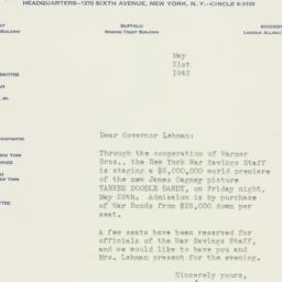 Letter : 1942 May 21
