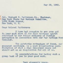 Letter : 1942 May 23