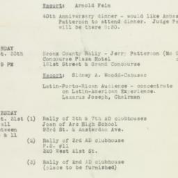Ephemera : 1950 October 25