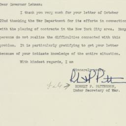 Letter : 1942 October 26