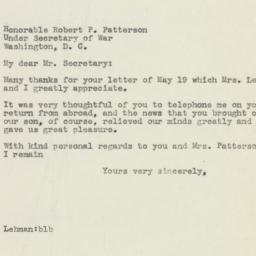 Letter : 1945 May 22
