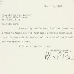 Letter : 1948 March 3