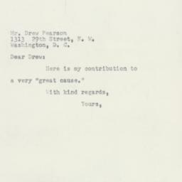 Letter : 1953 April 30