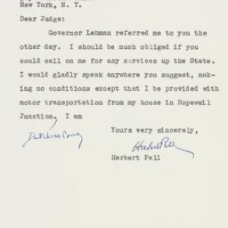 Letter : 1949 October 22