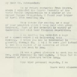 Letter : 1951 May 25