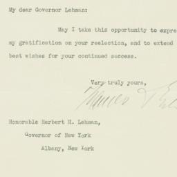 Letter: 1934 November 23