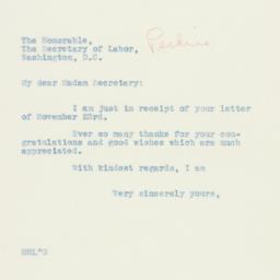 Letter: 1934 December 6