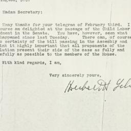 Letter: 1937 February 5