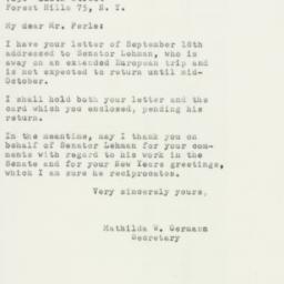 Letter : 1955 September 23