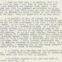 Letter : 1956 August 6