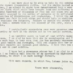 Letter : 1958 March 15