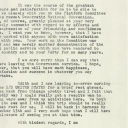 Letter : 1952 August 7