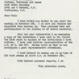 Letter : 1953 October 28