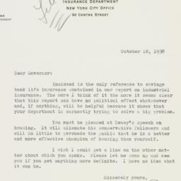 Letter : 1938 October 18