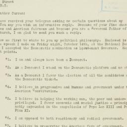Press Release: 1938 October 18