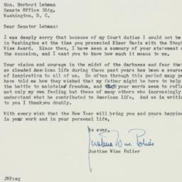Letter : 1955 December 27