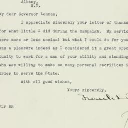 Letter : 1930 November 17