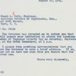 Letter : 1941 August 27