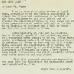 Letter : 1931 May 8