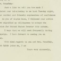 Letter : 1949 September 5