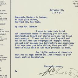 Letter : 1949 November 23