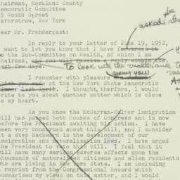 Letter : 1952 June 20