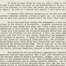 Letter: 1952 June 21