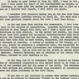 Letter : 1952 June 25