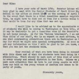 Letter: 1953 March 17
